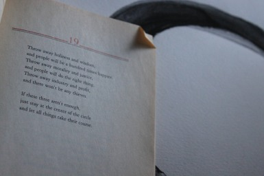Lao-Tzu's Tao Te Ching, or Book of the Way. Translated by Stephen Mitchell.
